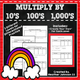Multiplying by 10, 100, and 1,000