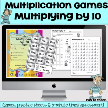 Multiplying by 10 math multiplication games and lesson - Game design lesson plans for teachers ...