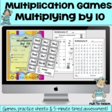 Multiplying by 10 - Math Multiplication Facts Games and Ac
