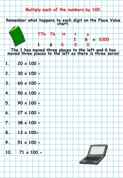 Multiplying by 100 and 100
