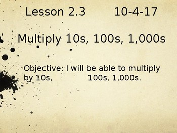 Multiplying by 10s, 100s, 1,000 in English and Spanish