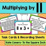 Multiplying by 11 Task Cards