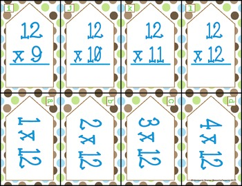 Multiplying by 12:   3.OA.1, 3.OA2, 3.OA.6, 3.OA7