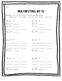 Multiplying by 12 Practice Sheet
