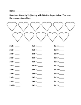 Multiplying by 2-10 Practice