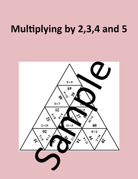 Multiplying by 2,3,4 and 5 – Math puzzle