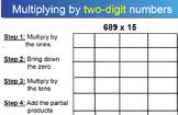 Multiplying by 2 Digit Numbers