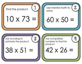 Multiplying by 2 Digit Numbers-Task Cards Aligned with EnV