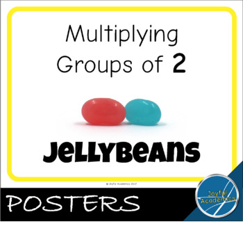 Multiplying by Groups of 2 Jellybeans Posters