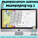 Multiplying by 2 - Math Multiplication Fact Fluency Games