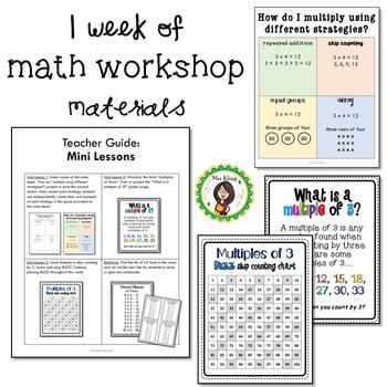 Multiply by 3 - Math Workshop Kit
