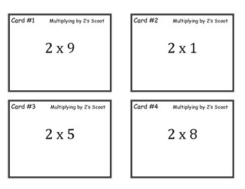 Multiplying by 2 Scoot Game