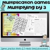 Multiplying by 3 - Multiplication Games  - Easel Digital A