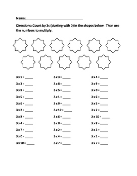Multiplying by 3 Practice