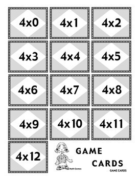 Multiplying by 4 - Math Multiplication Games and Lesson Plan
