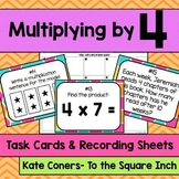 Multiplying by 4 Task Cards