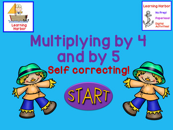 Multiplying by 4 and 5  Self-Correcting  PowerPoint