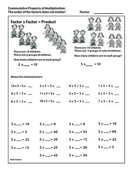 Multiplying by 5 Math Multiplication Games and Lesson Plan