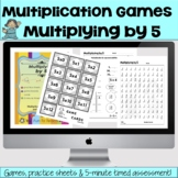 Multiplying by 5 Math Multiplication Facts Games and Lesson Plan