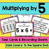 Multiplying by 5 Task Cards