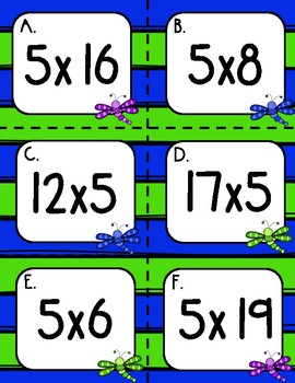 Multiplying by 5s Write the Room (2 Sets!)