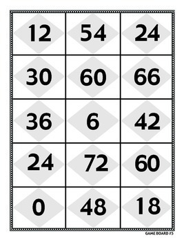 Multiplying by 6 - Math Multiplication Games and Lesson Plan