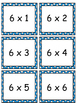 Multiplying by 6s - facts, arrays, and word problems