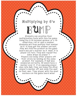 Multiplying by 6's BUMP Game
