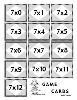 Multiplying by 7 - Math Multiplication Games and Lesson Plan