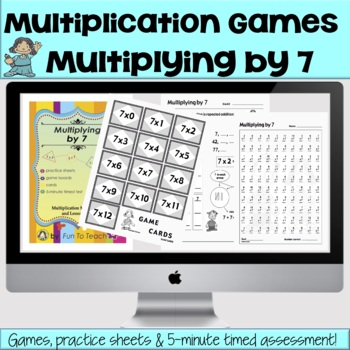 Multiplying by 7 - Math  Multiplication Facts Games ✅ Great for remote learning