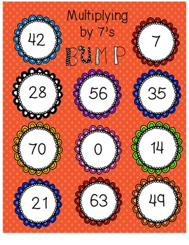 Multiplying by 7's BUMP Game