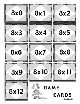 Multiplying by 8 - Math Multiplication Games and Lesson Plan