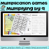 Multiplying by 9 - Math Multiplication Facts Games and Activities