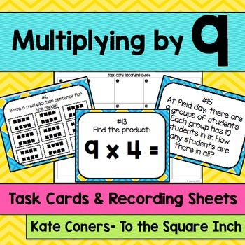 Multiplying by 9 Task Cards