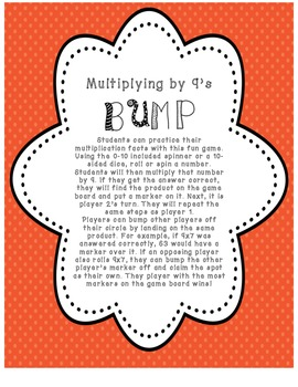 Multiplying by 9's BUMP Game