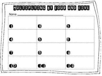 Multiplying by Four and Five