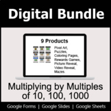 Multiplying by Multiples of 10, 100, 1000 - Digital Bundle | Distance Learning