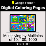 Multiplying by Multiples of 10, 100, 1000 - Digital Coloring Pages