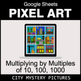 Multiplying by Multiples of 10, 100, 1000 - Google Sheets Pixel Art - City