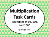 Multiplying by 10, 100, and 1000 Task Cards