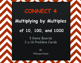 Multiplying by 10, 100, and 1000 - Connect 4 Game