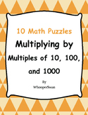 Multiplying by 10, 100, and 1000 - Puzzles