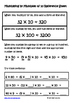 Multiplying by Multiples of 10 Lesson for Interactive Math Notebooks