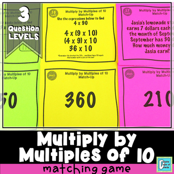 Multiplying by Multiples of 10 Matching Game