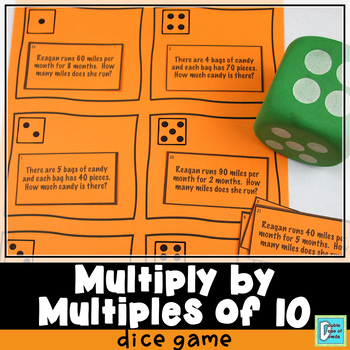 Multiplying by Multiples of 10 Roll and Play Dice Game