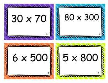 Multiplying by Multiples of 10 Task Cards - 4.NBT.5
