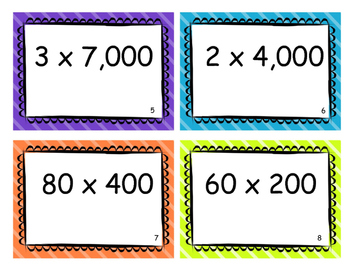 Multiplying by Multiples of 10 Task Cards - 4.NBT.5