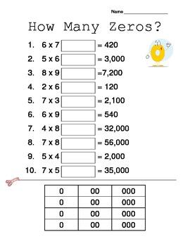 Multiplying by Multiples of Ten