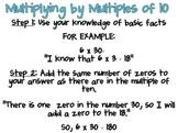 Multiplying by Multiples of Ten Poster