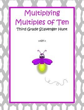 Multiplying by Multiples of Ten Scavenger Hunt - 3.NBT.3
